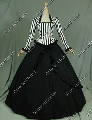 Victorian Costumes: Dresses, Saloon Girls, Southern Belle, Witch    Victorian Gone With The Wind Civil War Gown Dress Steampunk Punk Costume 321 $155.00 AT vintagedancer.com