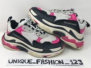 Black Pink S White 27cm Uk Triple Women's 10 40 Balenciaga Eu Us 7 wtxIZqFE