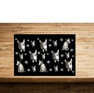 Kochen & Genießen Möbel & Wohnen Gelernt Bull Terrier Tabelleneinstellung Placemats On The Table Hochglanzpoliert