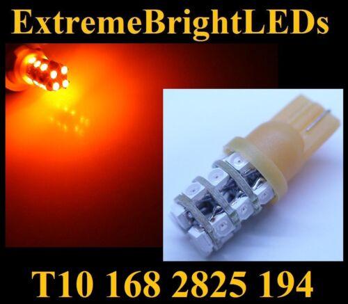 ONE Orange AMBER 16-SMD LED Light Bulb T10 168 2825 194