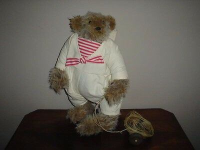 Teddy Treasures Stars & Stripes Bear With Wagon Dolls & Bears