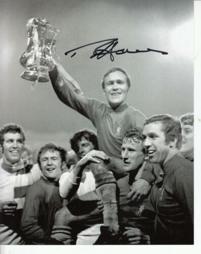 Ron Harris Chopper Chelsea 1970 FA Cup Hand SIGNED Photograph 10 X 8 inches