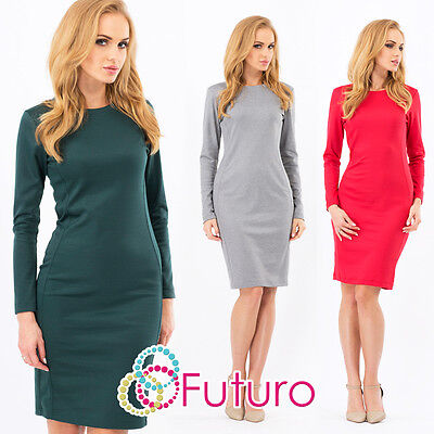 Classic Women's Dress Crew Neck Cocktail Party Formal Sizes 8 -14 FA214