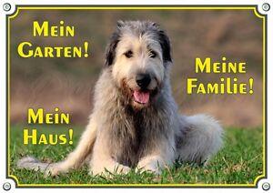 Panneau d'avertissement - qualité irlandaise de signe de bouclier en métal de chien Wolfhound irlandais