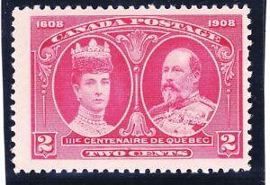 Canada-98-MNH-OG-1908-2c-Carmine-Queen-Alexandra-and-King-Edward-Cv-100-00-VF
