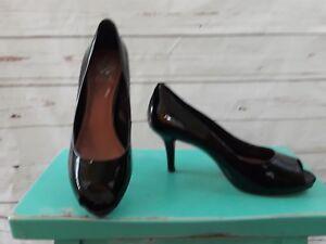 1b7a8b8fce Vince Camuto Heels Black Patent Leather Kiley Peep Toe Classic Shoe ...