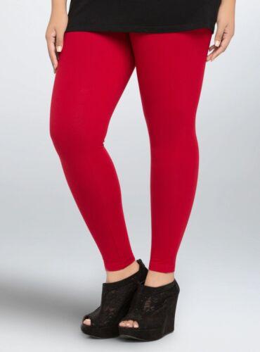 TORRID 0//1//2//3X LEGGINGS Red Premium Full Length Plus Size Stretch Pants NWT