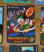 DRAGON BALL Z DBZ VISUAL ADVENTURE PART 1 CARD CARTE 13 MADE IN JAPAN 1991 **