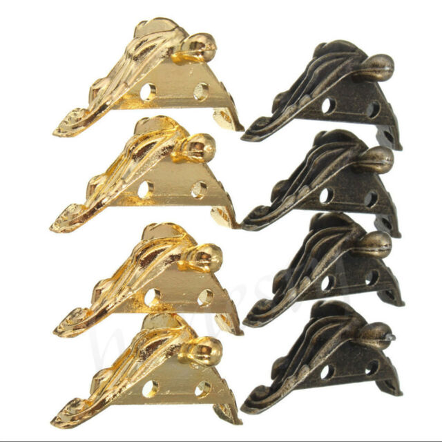 8 x Jewelry Chest Wood Case Gift Box Decorative Feet Leg Corner Protector Guard