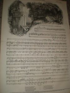 Old-music-sheet-The-Girl-and-the-Linnet-by-J-Augustine-Wade-1846