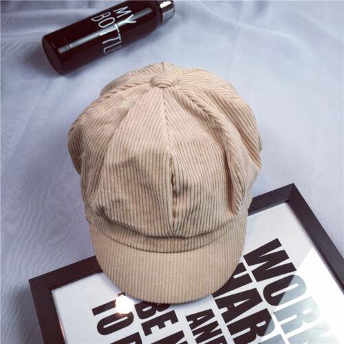 New Women Retro Solid Wool Gatsby Newsboy Octagonal Hat Cabbie Driver Cap Solid