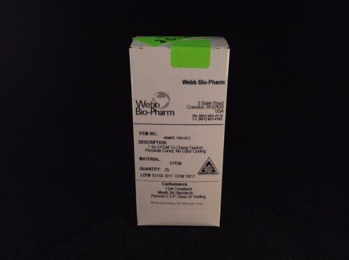 """Box of 25 Webb Bio-Pharm 40MPE-150-NCC 1.5/"""" EPDM Tri Clamp Gasket"""