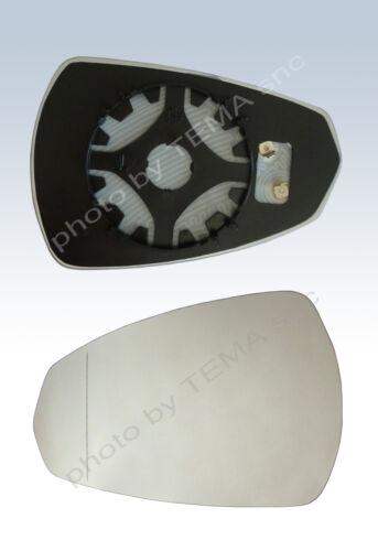 Specchio retrovisore AUDI A3 2013 piastra agganc+vetro sinistro asferico TERMICO