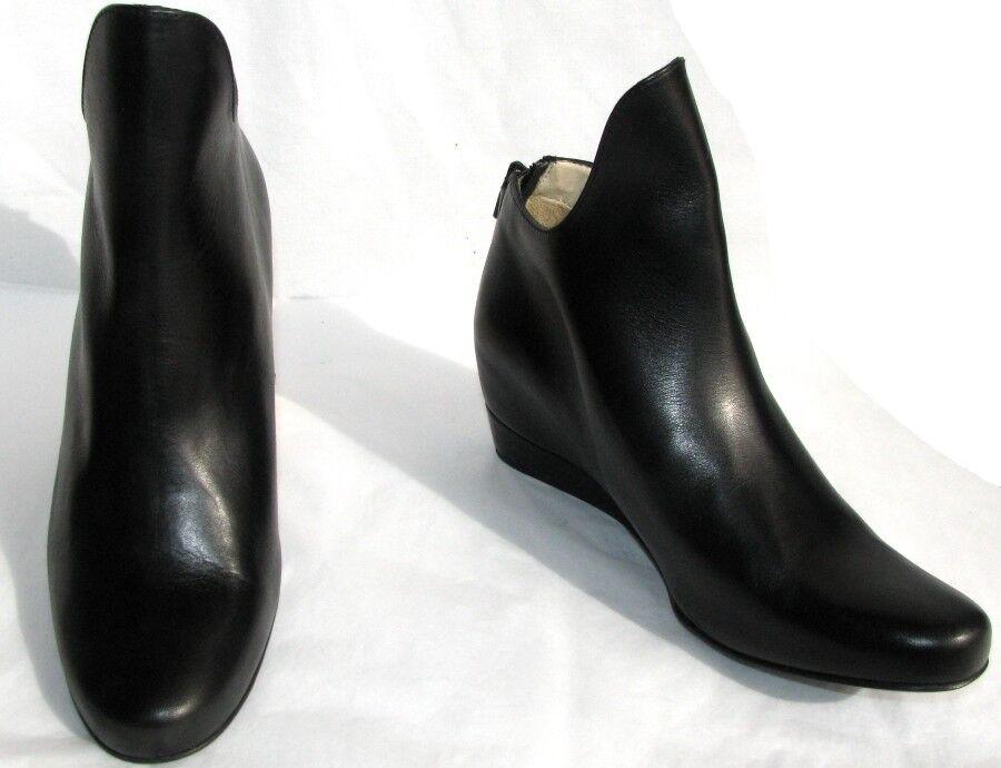 M + F GIRBAUD GIRBAUD GIRBAUD Bottines low botas compensées SUZY zip cuir negro 39 NEUF & BOITE  venta mundialmente famosa en línea