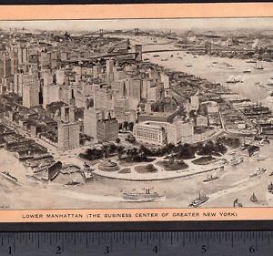 Lower-Manhattan-1907-Castle-Garden-Battery-NYC-New-York-Singer-Sewing-Trade-Card
