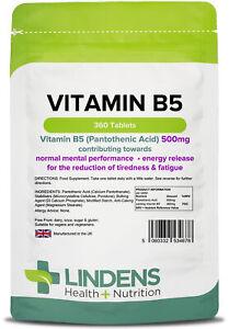 Vitamin-B-5-500mg-1-a-day-360-tablets-Pantothenic-Acid-B5-Brain-Energy-4678