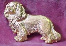 Chema Sotoca 24K Gold Plate Dog Brooch Pin New Cavalier King Charles Spaniel