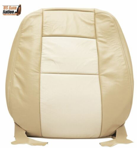 2006 07 2008 Ford Explorer Eddie Bauer Top Lean Back Leather Seat Cover Tan LH