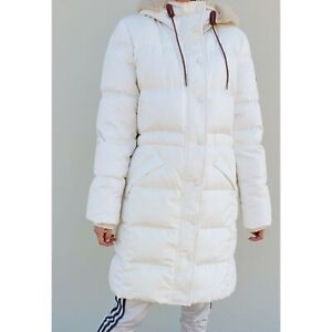 54f4967c3 Details about NWT COACH Womens Long Puffer Parka Long Knee Jacket Fur  Sherpa Cream F34128 NEW