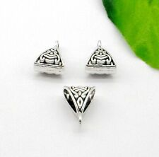 Free Ship 100Pcs Tibetan Silver Spacer Bail Beads Pendant Jewelry Making 7x9.5mm