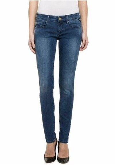 Replay rosa rosa rosa Jeans Aderenti WX613 W29 L30 Nuovo blu Pantaloni Donna ddfc34