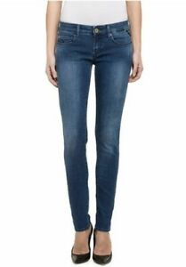 Bleu Neu Wx613 L30 Rose Tuyau Stretch W29 Damen Replay Skinny Slim Jeans Denim Xq0Yddx