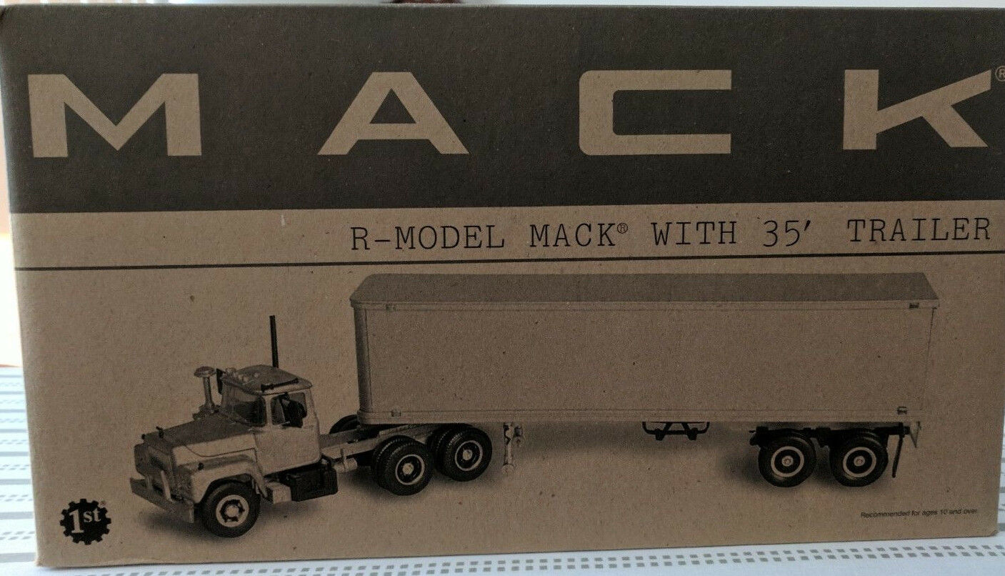 Mack R-Modelo Mack con 35' tralier 1 34 escala Diecast Metal Replica