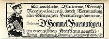 Dr.Hommel's Haematogen (Kriegswerbung) Historische Annonce 1916
