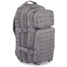 Mil-Tec Small Laser MOLLE Police Security Daysack Assault Pack Rucksack 20L Grey