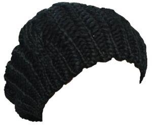 Chargement de l image en cours Nouvelle-Dame-Hiver-chaud-bonnet -Crochet-Slouch-Beret- 1019629810d