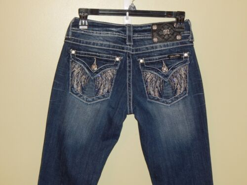 Angel Bootcut Sz Wings Tasche con Jeans Wash patta Me Fab borchie Me 25l Wash con Jeans wOBzx0q8