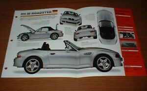 Image Is Loading 1998 Bmw M Roadster Original Imp Brochure Specs