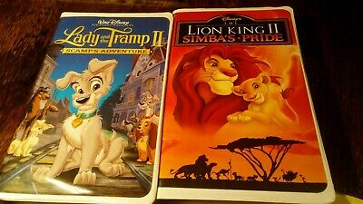 Lady And The Tramp Ii Scamps Adventure Vhs 2001 Lion King Ii Simba S Pride Ebay