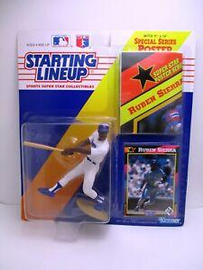1992 Starting Lineup Ruben Sierra Figure SLU Texas Rangers Poster Card