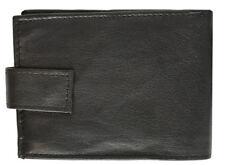 New Men's Genuine Cowhide Leather Bifold Wallet Black Credit Card Holder ID Win