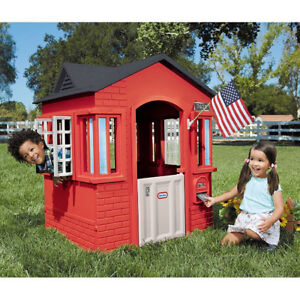 Image Is Loading Outdoor Playhouse Toddler Kids Cottage Boys Girls Home