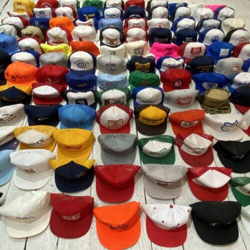 120 HATS VINTAGE 70s 80s 90s SNAPBACK TRUCKER HATS