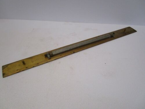 Vintage Marine ADMIRALTY Brass Ebony Chart Map ROLLER Rule LARGE 1159