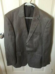 Men-Jos-A-Bank-Gray-2-Button-Silk-Herringbone-Pattern-Sport-Coat-Jacket-41R