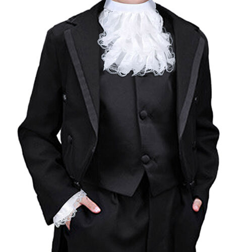 Victorian Lace Jabot and Cuffs Set Punk Party Costume Accessory for Kids//Adults