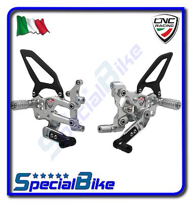 Deskundig Ducati 1199 Panigale Superleggera 2014 Set Pedane Regolabili Cnc Racing Rps Sil.
