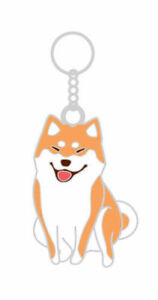 Kabosu Dog Keyring Cute Shiba Inu Pattern Key Ring Doge Key Chain