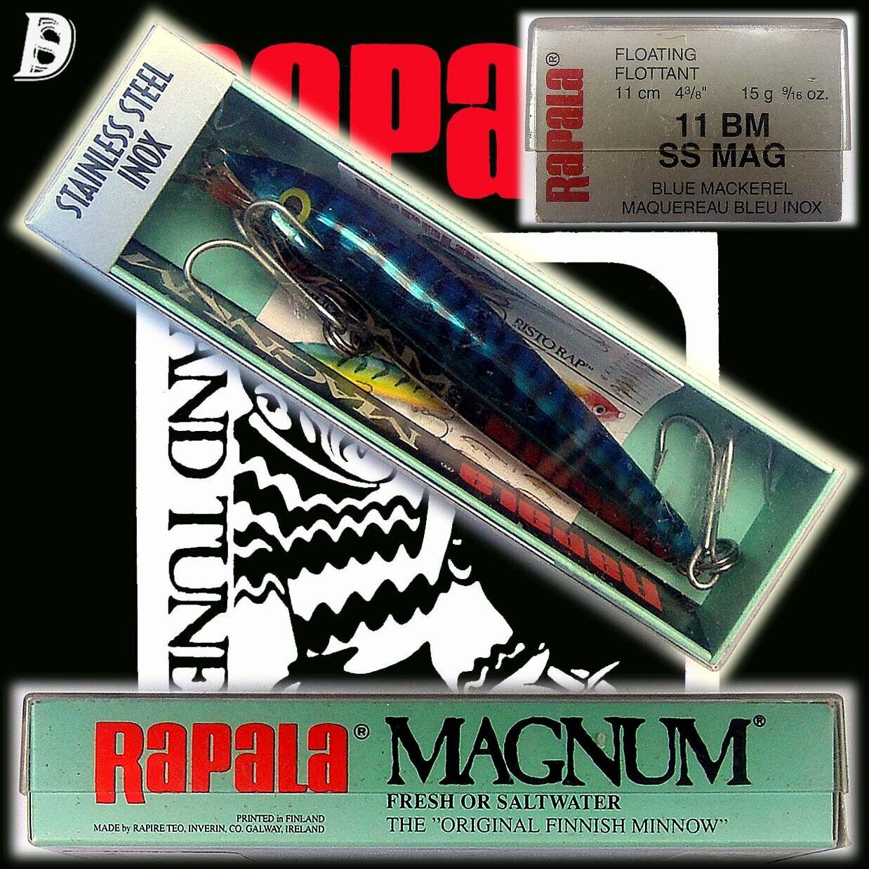 Vintage Rapala Magnum Floating Stainless Steel 11cm SS BM NiB wurde eingestellt