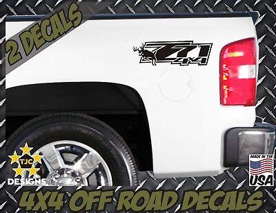BLACK for Chevrolet Silverado Set Z71 Truck Bed Decals