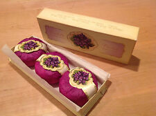 3 Vintage Violette Savon de Toilette Parfumerie Very Berlin 3.4 Net Oz each /NOS