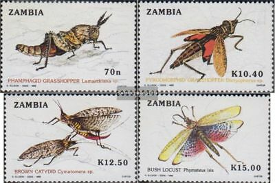 Considerate Sambia 503-506 Unmounted Mint complete.issue. Never Hinged 1989 Heuschrecken