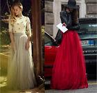 2016 Multi Layers Women's Tulle Long Skirt Princess Celebrity Skirts Prom Dress