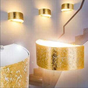 Wand Leuchten Schlaf Wohn Zimmer Lampen Flur Dielen Büro Licht Up /& Down Gold