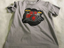 Think/Geek Electronic Drum Kit Shirt size Boys Small Gray Grey ~ 0112
