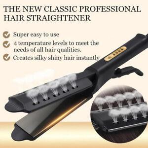 Hair Straightener Flat Iron Hot  Gear Tourmaline Ionic Glider Exhaust Ceramic